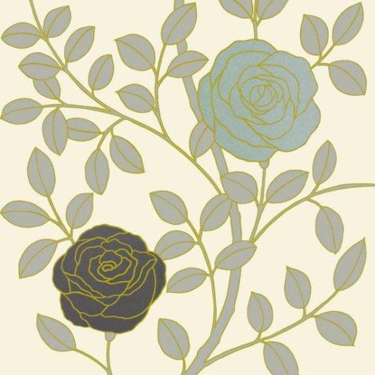 Gravura para Quadros Floral Design II - 17x17cm