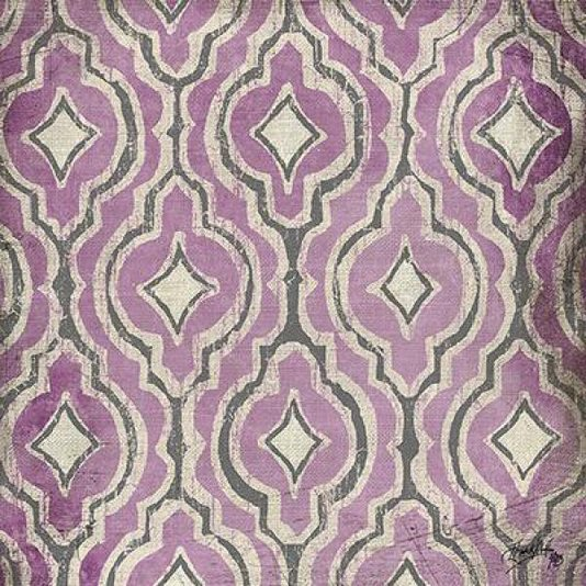Gravura para Quadros Arte Abstrata Rosa e Creme II 15x15cm