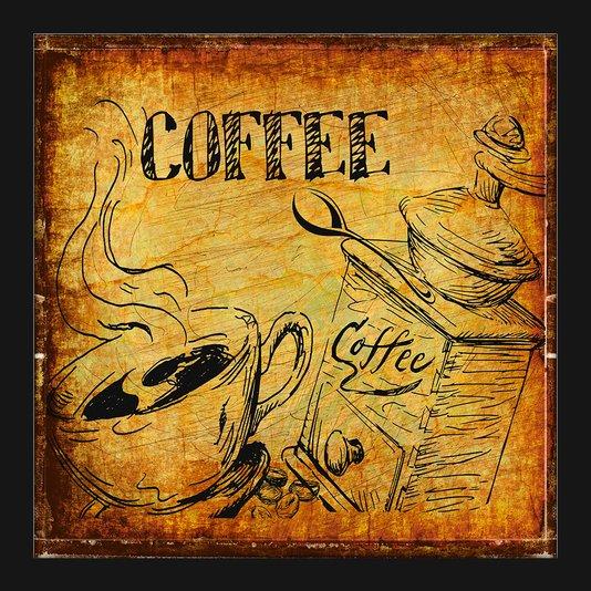 Quadro Decorativo Pequeno Vintage Coffee