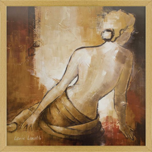 Quadro Nu Artístico Mulher de Costas Arte de Lanie Loreth 60x60cm