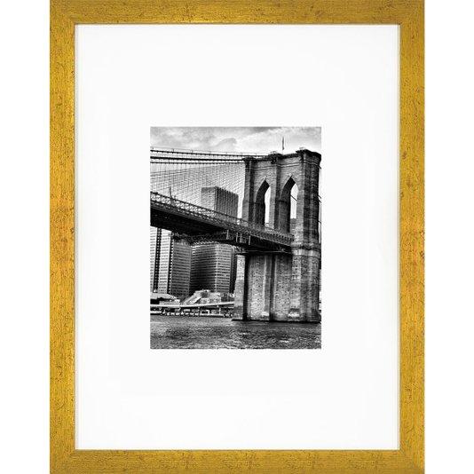 Quadro Famosa Ponte do Brooklyn com Moldura Dourada 30x40cm
