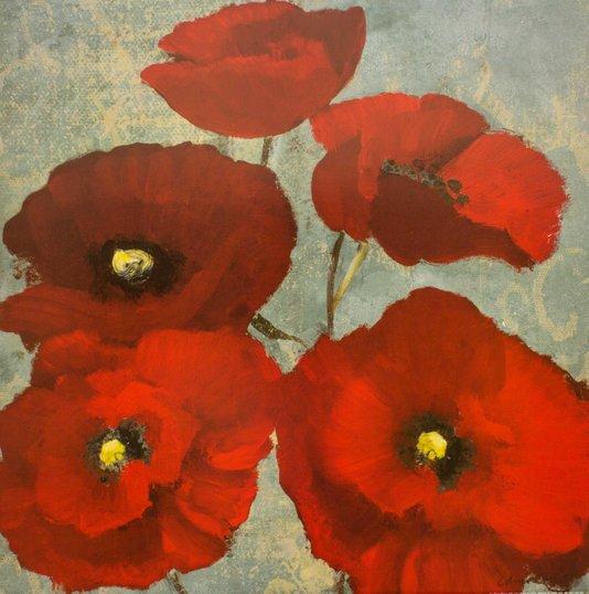Gravura para Quadros Papoulas Vermelhas 61x61cm