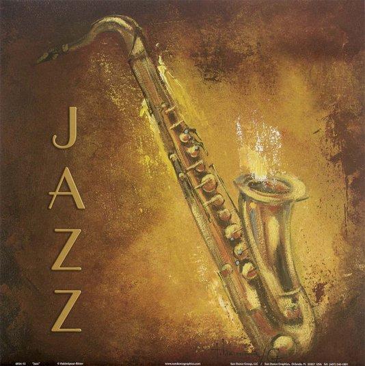 Gravura para Quadros Saxofone Ritmo Musical Jazz 30x30cm