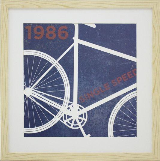 Quadro Decorativo Bicicleta Antiga de 1986 - 40x40cm