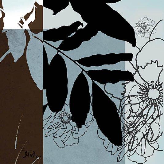 Gravura para Quadros Folhas Arte de Patricia Pinto 46x46cm