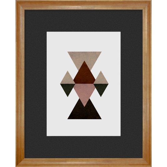 Quadro Decorativo Triângulos e Losangos 90x110cm