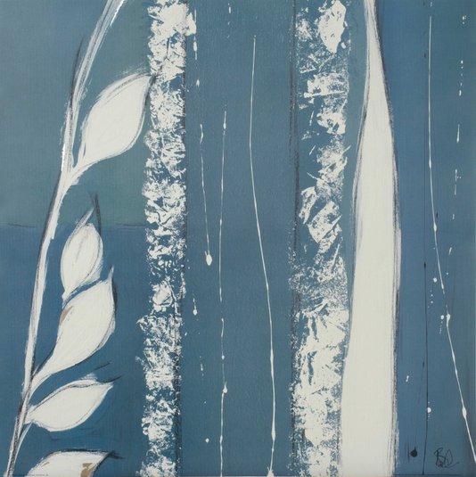 Gravura para Quadros Floral Azul Lee Burd 60x60cm