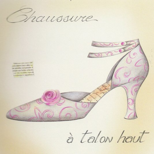 Gravura para Quadros Sapato A Talon Haut 30x30cm