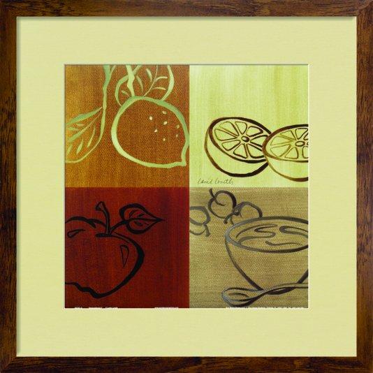 Quadro Decorativo de Frutas Arte de Lanie Loreth 45x45cm