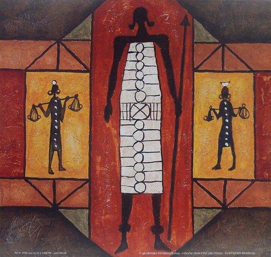 Gravura para Quadros Africana Desenhos Formas Geométricas 30x30cm