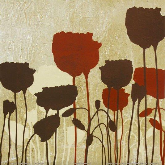 Gravura para Quadros Floral Simplicidade V - 30x30cm