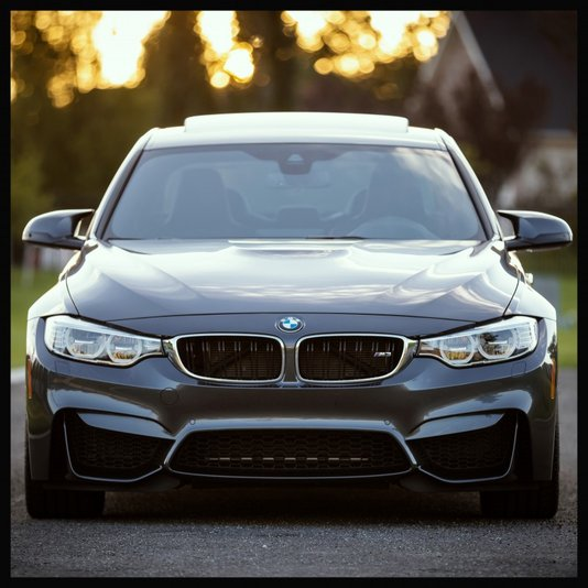 Quadro Decorativo Carro Esportivo BMW M3 80x80cm