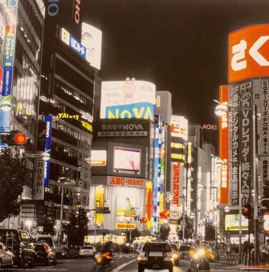 Gravura para Quadros Noite em Ginza 30x30cm