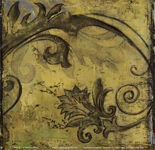 Gravura para Quadros Abstrato Amarelo e Marrom 15x15cm
