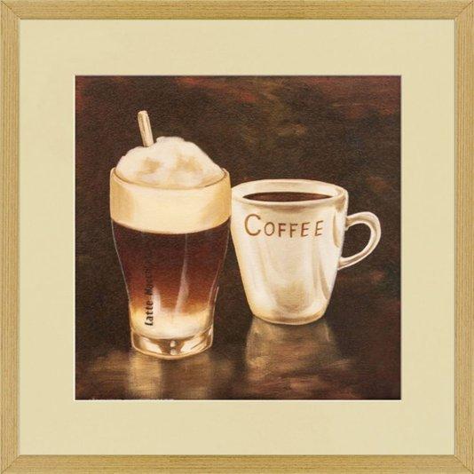 Quadro Café e Latte Macchiato 50x50cm
