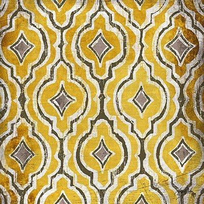 Gravura Abstrata para Quadros Amarela e Cinza II 30x30cm