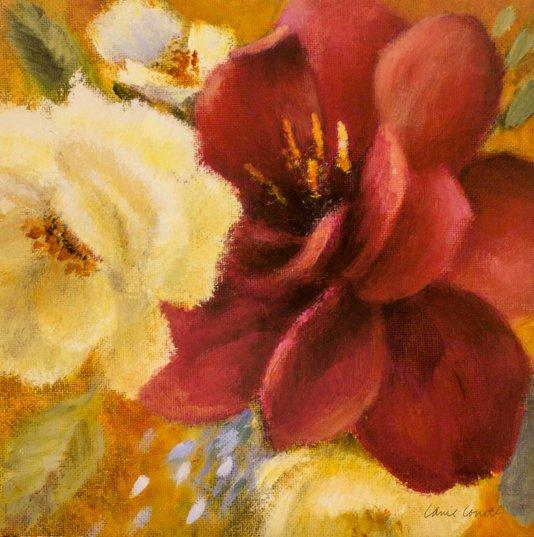 Gravura para Quadros Floral Blooms 46x46cm