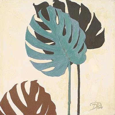 Gravura para Quadros Folhas Coloridas II - 46x46cm