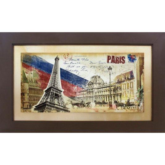 Quadro Tela Decorativa com Moldura Paris 160x100cm