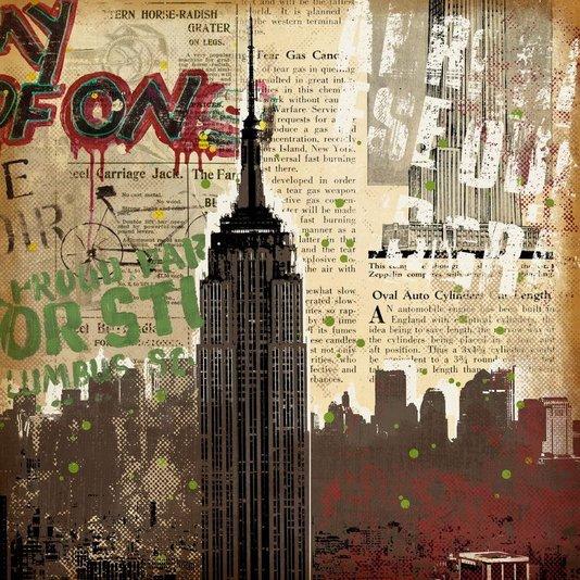 Quadro Tela Decorativa Arranha Céu Empire State Building Nova York 60x60cm