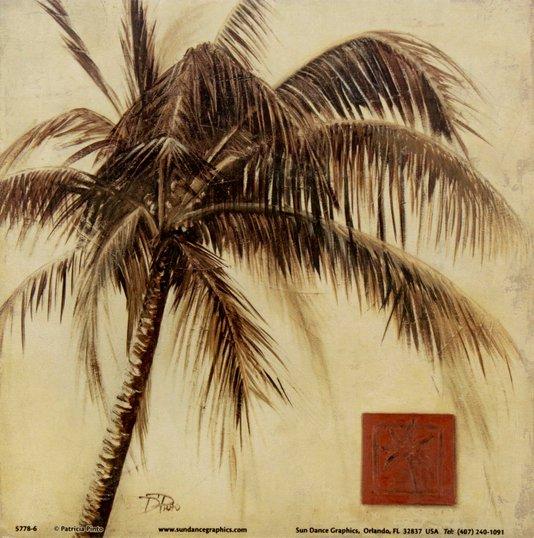 Gravura para Quadros Tropical Palmeira 15x15cm