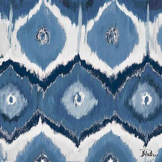 Gravura para Quadros Arte Abstrata Azul e Branco de Patricia Pinto 15x15cm