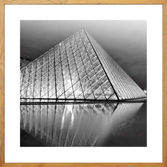 Quadro Decorativo Museu do Louvre em Paris na França 50x50cm