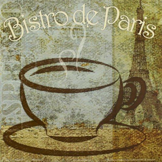 Gravura para Quadros Café Bistrô de Paris 30x30cm