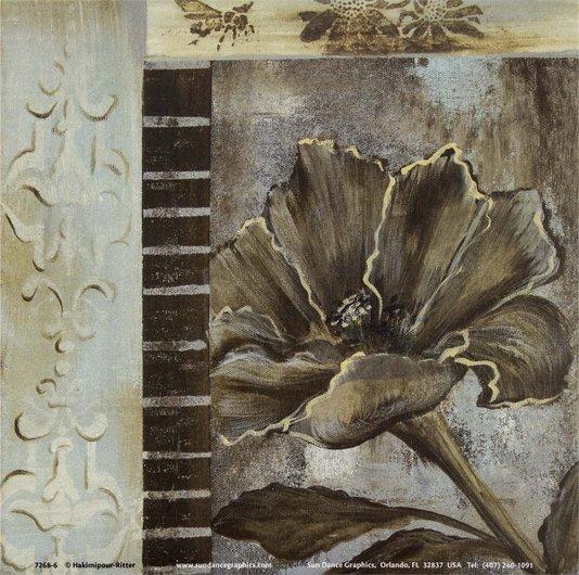 Gravura para Quadros Floral Vida no Campo II - 15x15cm