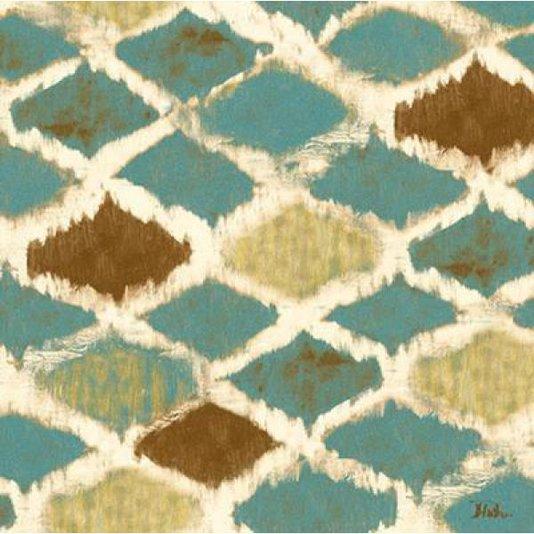 Gravura Abstrata para Quadros Arte Azul e Marrom I de Patricia Pinto 20x20cm