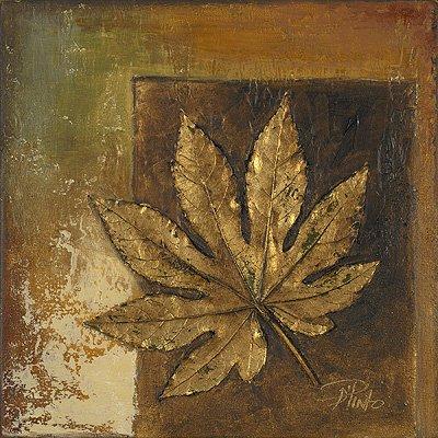 Gravura para Quadros Folha Dourada Ii - 15x15cm