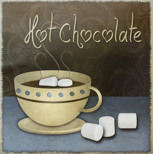 Gravura para Quadros Xícara c/ Chocolate Quente 30x30cm