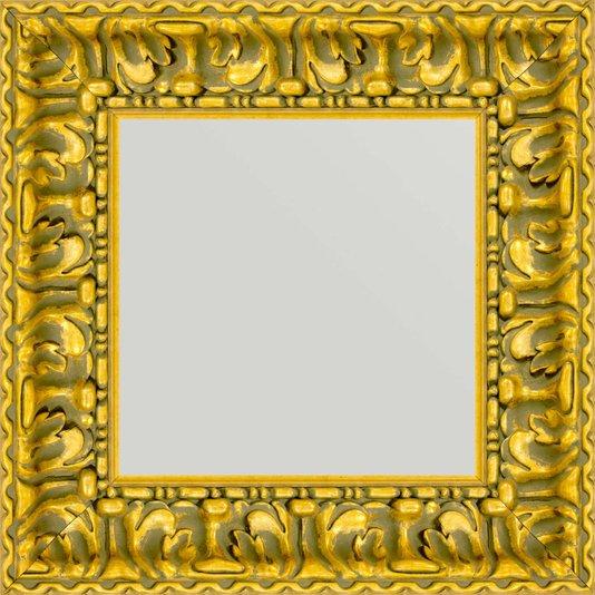 Espelho com Moldura cor Ouro Envelhecido 50x50cm