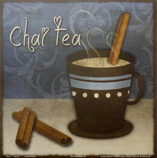 Gravura para Quadros Xícara de Chá com Canela 30x30cm