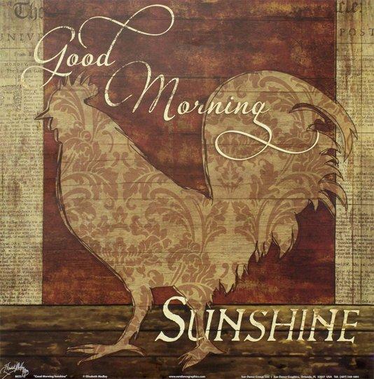 Gravura para Quadros Cozinha Good Morning Sunshine 30x30cm