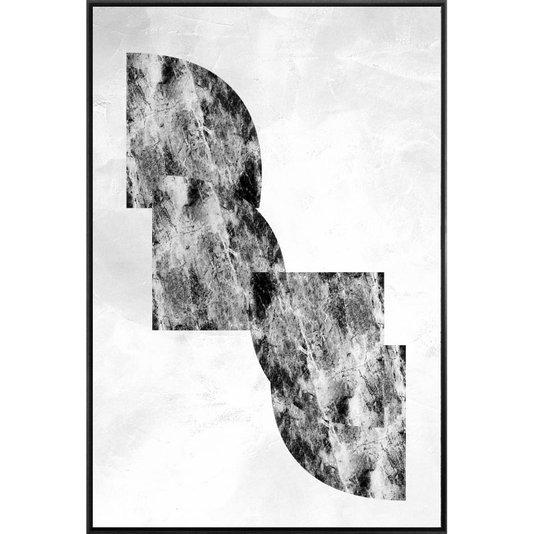 Canvas Abstrata com Moldura Preta Arte Moderna 120x180 Cm