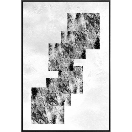 Canvas com Moldura Preta Tela Abstrata Arte Moderna 120x180 cm