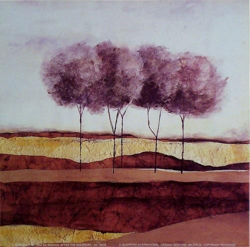 Gravura para Quadros Casario Árvores 18x18cm