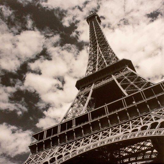 Gravura para Quadros Torre Eiffel Paris 30x30cm