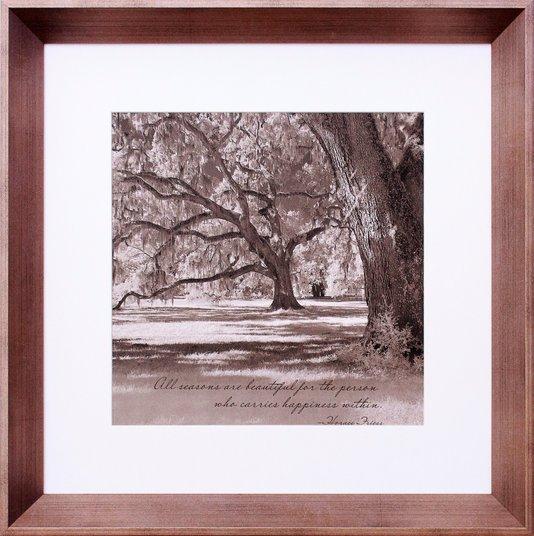 Quadro Decorativo Paisagem Parque com Árvores Antigas 45x45cm