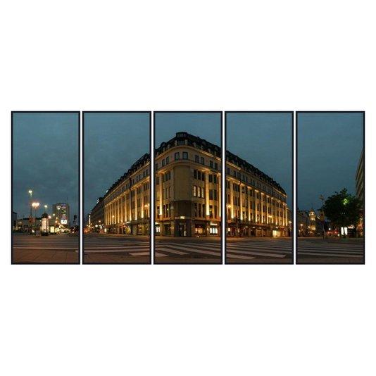 Quadros Edifício em Turku Finlândia Kit com 5 Quadros de 70x160 cm
