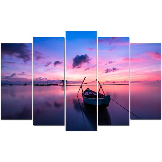 Conjunto de Quadros Telas Decorativas Phu Quoc Island Kit com 5 Quadros
