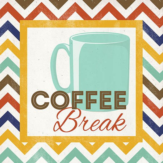 Gravura para Quadros Coffee Break 30x30cm