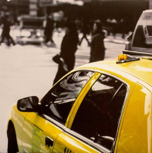 Gravuras para Quadros Táxi Amarelo de Nova York 30x30cm