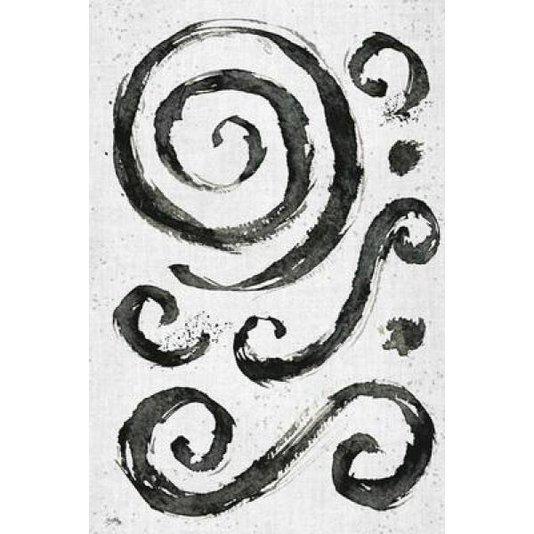 Gravura Abstrata para Quadros Redemoinhos Tribais II de Elizabeth Medley 50x70cm