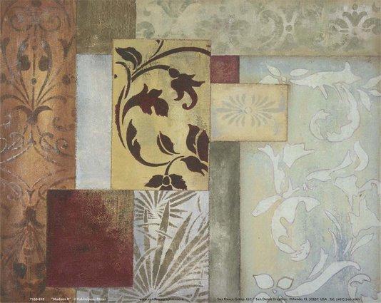 Gravura para Quadros Abstrato Madison II por Hakimipour Ritter 25x20cm