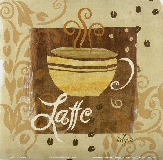 Gravura para Quadros Xícara de Café com Leite 15x15cm