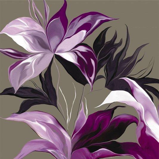 Gravura para Quadros Flores Roxas II - 60x60cm