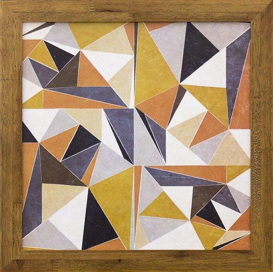 Quadro Decorativo Abstrato Polígono Colorido II 30x30cm