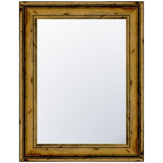 Espelho Cristal com Moldura Madeira Natural Tingida
